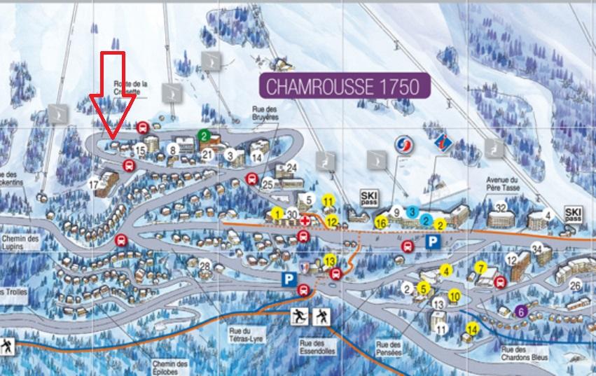 Plan chamrousse fleche